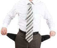 Businessman turned out his pockets Royalty Free Stock Images