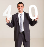 Businessman turning 40 Royalty Free Stock Photo