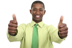 Businessman with Two Thumbs Up Stock Photos