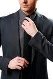 Businessman tying Stock Photography