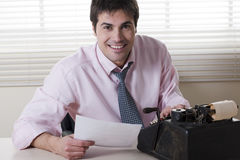 Businessman typing Stock Photos