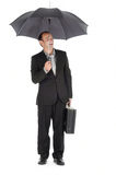 Businessman, umbrella Stock Photo