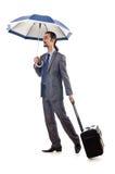 Businessman with umbrella Royalty Free Stock Image