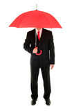 Businessman with an umbrella. Young businessman with an umbrella Stock Photography