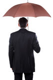Businessman with umbrella. Royalty Free Stock Images