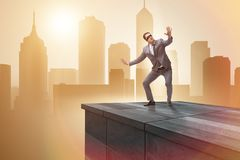 The businessman in uncertainty business concept Stock Photo