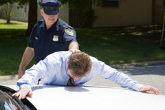 Businessman Under Arrest Royalty Free Stock Photography
