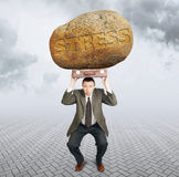 Businessman under the burden of stress. Difficulties in business Stock Images