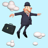 The businessman under clouds. Royalty Free Stock Photo