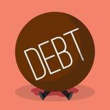Businessman under heavy debt Royalty Free Stock Photos
