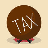 Businessman under heavy tax Royalty Free Stock Photography