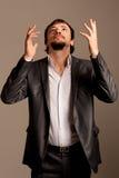 Businessman under stress Royalty Free Stock Photo