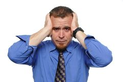 Businessman under stress Royalty Free Stock Photos