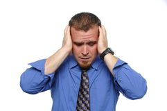 Businessman under stress Royalty Free Stock Images
