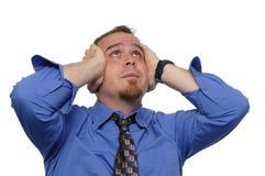 Businessman under stress Stock Photos