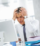 Businessman under stress Stock Photography