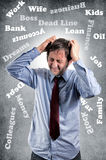 Stress man Royalty Free Stock Photography