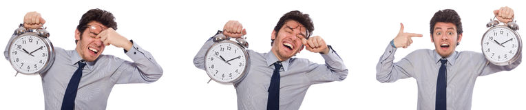 The businessman under stress not meeting his deadlines Royalty Free Stock Image