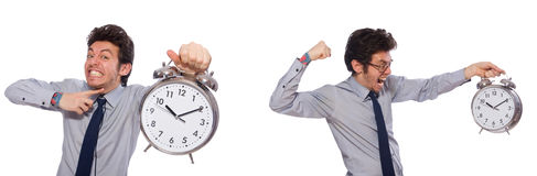 The businessman under stress not meeting his deadlines Royalty Free Stock Images