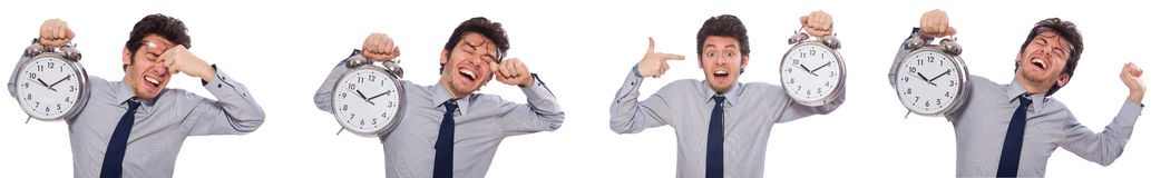 The businessman under stress not meeting his deadlines Royalty Free Stock Photography