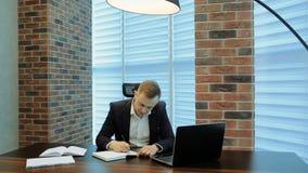 Businessman Under Stress At Work stock video footage