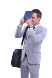 Businessman under stress Royalty Free Stock Image