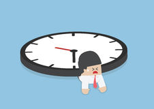 Free Businessman Under The Big Clock, Deadline, Overtime Concept Royalty Free Stock Photos - 60620978