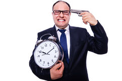 The businessman under time pressure on Royalty Free Stock Images