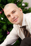 Businessman under the tree Stock Photo