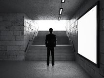 Businessman in underground passage Stock Photography
