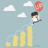 Businessman up. Is vector cartoon businessman up Royalty Free Stock Photography
