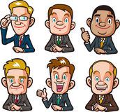 Businessman upper body collection Stock Photography