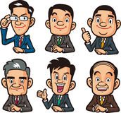 Businessman upper body collection Royalty Free Stock Images
