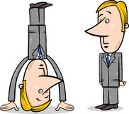 Businessman upside down Royalty Free Stock Photography