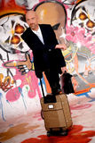 Businessman, urban graffiti stock image