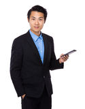 Businessman use cell phone Royalty Free Stock Image