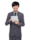 Businessman use digital tablet Royalty Free Stock Image