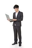 Businessman use laptop Stock Image