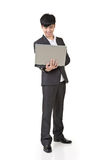 Businessman use laptop Stock Images