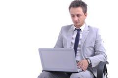 Businessman use laptop Royalty Free Stock Photography