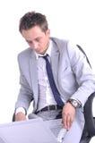 Businessman use laptop Royalty Free Stock Image