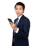 Businessman use mobile phone Royalty Free Stock Photography