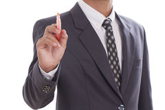 Businessman use pen Stock Photography