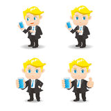 Businessman use smartphone Stock Images