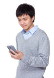Businessman use of the smartphone Stock Photo