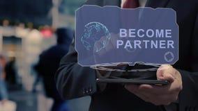 Businessman uses hologram become partner