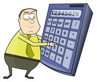 Businessman using calculator Stock Photo