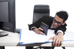 Businessman using calculator Royalty Free Stock Photo