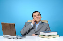 businessman using cell phone Royalty Free Stock Image