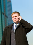 Businessman using a cell phone Stock Photo